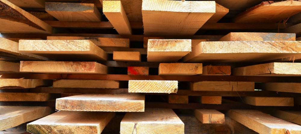 Stacked hardwood