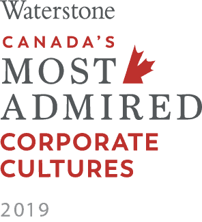 Waterstone Canada's Most Admired Corporate Cultures 2019